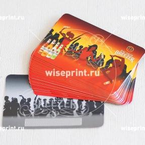 картонные лакированные скретч карточки